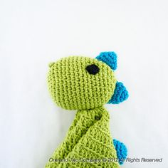 I'm definitely making one of these for Fern. Dinosaurs are for girls too!  New PDF Crochet Pattern - Dino Security Blanket - Text instructions and SYMBOL CHART instructions. $3.99, via Etsy.