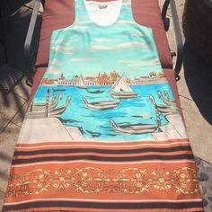 Boutique Italian Capri Feels Like Real Silk Dress