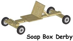 Picture of Easy Soap Box Derby Car Build Soap Box Derby Cars, Soap Box Cars, Diy Soap Box, Soap Boxes, Wooden Car, Wooden Toys, Diy Go Kart, Pallet Playhouse, Diy Kids Furniture