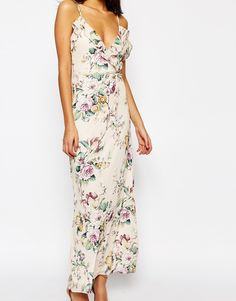 e7258247d3 Shop Oh My Love Maxi with Frill in Spring Blossom at ASOS.