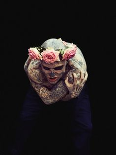 Rick Genest: the creepiest thing I've seen in a while.