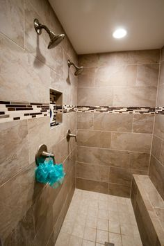 Our House: Vol 20 ▲ Tiled Master Shower Dual Shower Heads!
