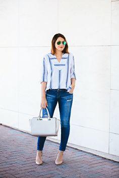 blue & white tunic for summer | Kendi Everyday