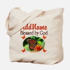 BLESSED BY GOD Tote Bag Share your faith, hope, and love with our beautiful and uplifting scripture verse gifts. www.cafepress.com/heavenlyblessings #Scripturegift #Bibleverse #Christian #Bornagain #Jesusgifts #Christiangifts