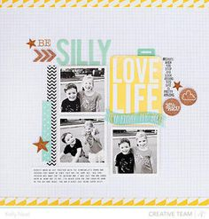#papercraft #scrapbook #layout. Be Silly, Love Life by Kelly Noel at @studio_calico