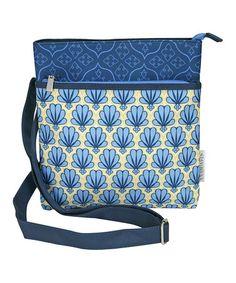 Blue & Green Deco Fan City Crossbody Bag by Passion For Fashion, $17 !!  #zulily #zulilyfinds