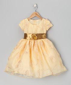 Gold Circle Dress - Toddler & Girls