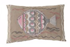 Large fish pillow 40x60cm pink Fish Pillow, Printed Cushions, Throw Pillows, Prints, Cushions, Decorative Pillows, Decor Pillows, Printmaking, Scatter Cushions