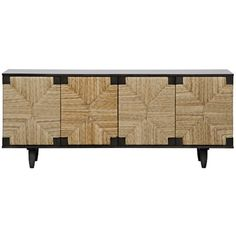 QS Brook 4 Door Sideboard, Pale - quick ship