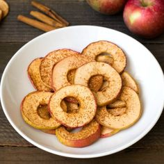 These homemade apple chips are a delicious snack, and they're so easy to make! This healthy recipe is a great alternative to packaged chips.