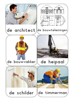 woordkaarten Bouwen3 Reggio, English Talk, Small Space Interior Design, Family Theme, Educational Activities, Techno, Dutch, Construction, Building