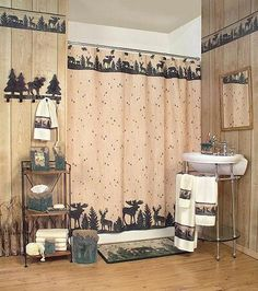 Hunting Lodge Cabin Bathroom Accessories Gallery >>