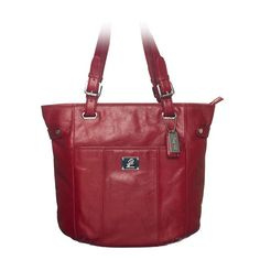 Bella Leather Bag ~ Red   Also in: Black, Bronze, Cognac