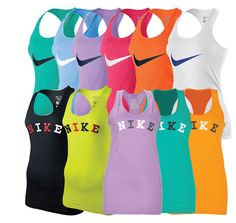 Nike Women's Racerback Tank...yeahhh can I just get the whole set please...thanksss