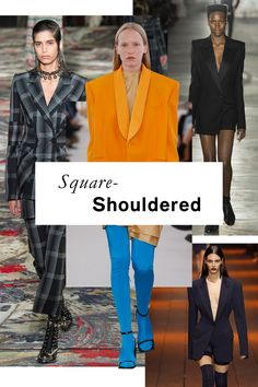 The 11 Runway Trends of Spring 2017. 80s-inspired exaggerated blazer and suiting shapes