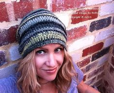 Crochet Hat Pattern Slouchy No.308 by bubnutPatterns on Etsy, $3.95