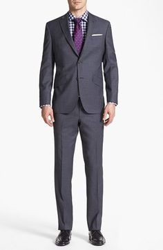 Every lady loves a man in well-tailored suit <3. Ted Baker London 'Jones' Trim Fit Wool Suit available at #Nordstrom