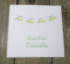 Car Banner Personalized Enclosure Cards - Gift Cards - Calling Cards - Set of 24 - Boy - Trending - Flat - One sided - Embossed - Kids
