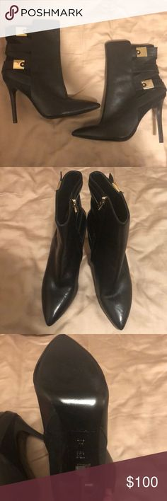 58e664598bd Guess by Marciano Size 8.5 Black Leather Boots