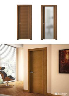 Puerta de Interior Oscura | Modelo PALMA de la Serie Exclusive de Puertas Castalla. Puerta de Madera Oscura