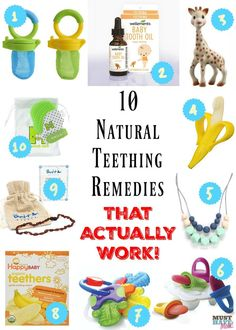 10 Natural Teething remedies that ACTUALLY work! This is from a mother of 4 and Registered Nurse! She shares natural remedies to relieve teething pain. Great teething ideas for babies!