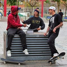 The Blaster turning up the Plan B film trip in Barcelona with Ryan Sheckler, Torey Pudwill and Felipe Gustavo.