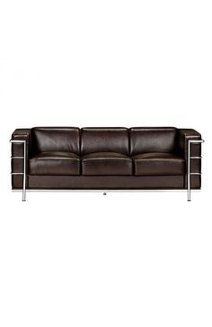 Fortress Sofa - 900232Description :A Mid-Century classic series, the Fortress comes with leather seating, leatherette back and side with a chrome steel tube frame. It comes in black, white or espresso.Features: -Color : EspressoProduct Cover (Upholstery Material or Type of Metal) :LeatherProduct Finish (Structure Materiel or Type of Wood) :Chromed SteelDimensions :Sofa :76