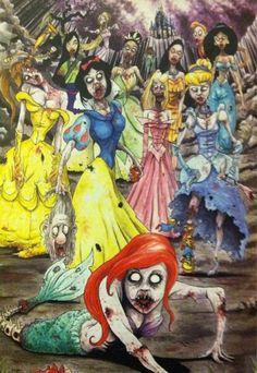 disney princess zombies