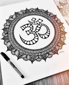 This is a photo of a hand drawn OM symbol mandala. The print will be on quality 9x12 paper! Great for the yoga lovers out there!