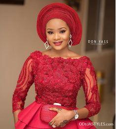 Best 12 2019 Aso ebi styles: Trendy Design for African Women Lace Gown Styles, Aso Ebi Lace Styles, African Lace Styles, Ankara Styles, Lace Styles For Wedding, Lace Wedding, Wedding Dress, Nigerian Lace Dress, Nigerian Dress Styles