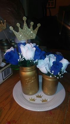 Royal Prince Babyshower Centerpieces