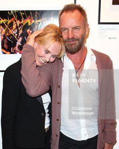 LONDON, ENGLAND - OCTOBER 06: Sting and Trudie Styler attend the private view of 'The People Of The Forest: 20 Years of Images from the Rainforest Foundation' at Proud Camden on October 6, 2009 in London, England. (Photo by Mike Marsland/WireImage)