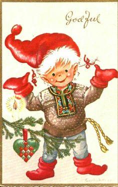 Julekort Anne Eline Coucheron utg Oppi brukt 1964