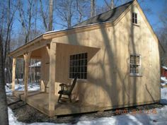 Our 12'x 20' Country Cabin with 6'x 20' porch. www.countrycarpenters.com