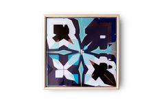Geometric Tile, Abstract wall art, Asymmetric pattern, Ceramic wall decor, Modern art tile, Framed wall art, Pattern print tile, Blue purple by JonBurgess on Etsy https://www.etsy.com/dk-en/listing/184045922/geometric-tile-abstract-wall-art