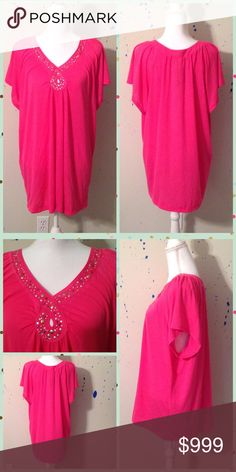 Pink Plus Size Top Size: 22/24. 65% Polyester and 35% Rayon. Zena Tops