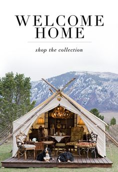 For the home . cool tent and love the dogs!!!!
