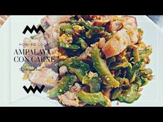 Ampalaya con carne is a filipino dish stirr fry veggie with pork meat this simple dish easy to make under 20 minutes you can have a healthy delicious dish In. Pork Meat, Filipino Dishes, Gourds, Bitter, Tasty Dishes, Asparagus, Fries, Easy Meals