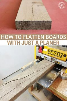 How to Flatten Boards With Just a Planer - This is an article about flattening boards with a planer. If you are building you will need boards that are consistent without them you will not be able to build anything that is even decent. Woodworking Planer, Wood Planer, Diy Workbench, Beginner Woodworking Projects, Learn Woodworking, Woodworking Techniques, Woodworking Hacks, Carpentry, Woodshop Tools