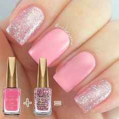 Nails acrilico rosa palo Ideas for 2019 Free pattern and Tutorials Little Girl Nails, Girls Nails, Matte Nails, Pink Nails, Acrylic Nails, Stylish Nails, Trendy Nails, Lexi Nails, Girls Nail Designs