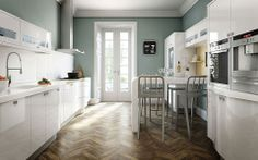 Looking for galley kitchen ideas? The galley kitchen layout works well for most styles and is a practical choice for even the smallest of spaces Galley Kitchen Design, Galley Kitchens, Home Kitchens, Kitchen Designs, Kitchen Ideas, Dream Kitchens, Luxury Kitchens, Bathroom Designs, Long Narrow Kitchen