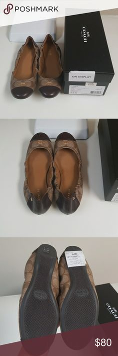 Coach Camilla size 5.5 khaki/chestnut/Brown/tan New in box. These were a display so they have been tried on. I purchased these, tried them on and wore around the house but they've never been worn out. Only selling because I never wear them. Beautiful pair of shoes! Coach Shoes