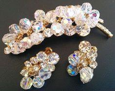 Juliana Brooch Earring Set D&E Confirmed by BrightgemsTreasures, $74.50
