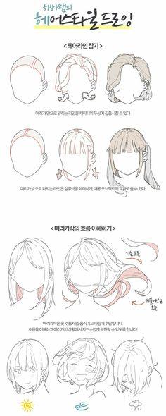 Drawing Hair Tips – Hair Drawing Hair Reference, Drawing Reference Poses, Drawing Tips, Drawing Techniques, Drawing Base, Manga Drawing, Gesture Drawing, Pelo Anime, Manga Tutorial