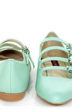 Mint green Mary janes