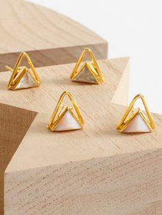Katie Diamond Luna Pink Opal Earrings // Shop ARO