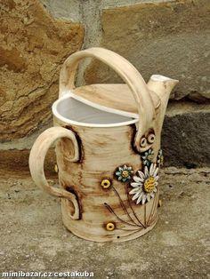 Zahradní konev keramická ... obj. 3l
