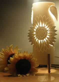 RESERVED SUNFLOWER Table Lamp Accent lighting Mood by GlowingArt