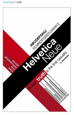 Helvetica Neue Typographic Poster