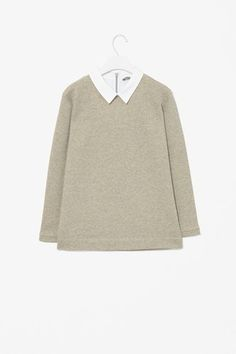 COS Sweatshirt Top with Collar